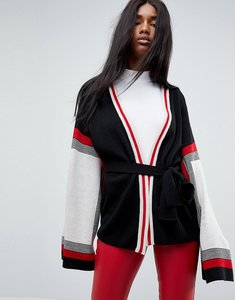 Read more about Asos wrap cardigan in colourblock - multi