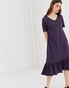 Read more about Kowtow building block organic cotton midaxi dress - plum