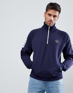 Read more about Fred perry sports authentic taped half zip jacket in navy - 266