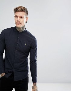 Read more about Farah steen slim fit weft grandad shirt in navy - navy 412