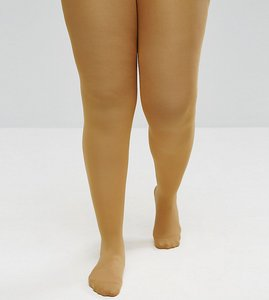 Read more about Asos curve 80 denier tights in mustard - yellow