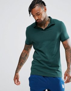 Read more about Asos jersey polo shirt with revere collar in muscle fit - highland