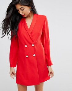 Read more about Asos ultimate tux blazer mini dress with pearl buttons - red