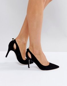 Read more about Miss kg heeled mini bow point high heels - black