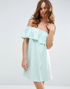 Read more about Asos one shoulder dress with frill - mint