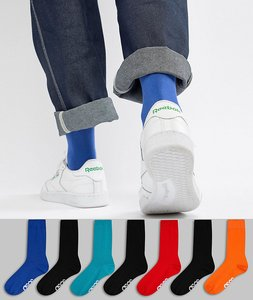 Read more about Asos design socks in retro sport colours with branded soles 7 pack save - multi