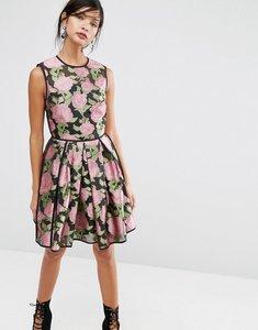 Read more about Asos salon pretty floral rose soft mini dress - multi