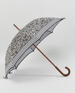 Read more about Fulton kensington 2 graphic leopard border umbrella - black