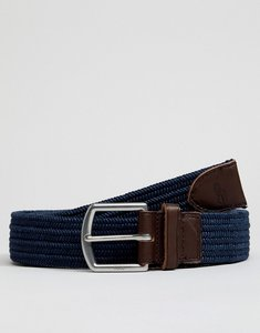 Read more about Polo ralph lauren webbing leather belt player logo in navy - navy