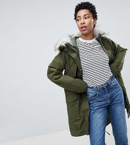 Read more about Asos tall oversized parka with padded liner - khaki