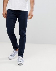 Read more about Farah drake twill slim fit trousers in navy - 454navy