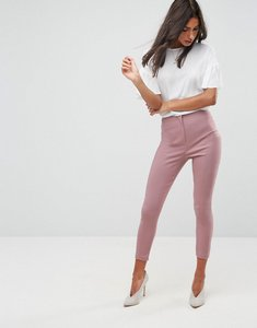 Read more about Asos high waist trousers in skinny fit - nude pink