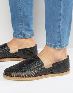 Read more about Toms leather huaraches sandals - black