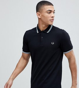 Read more about Fred perry slim fit twin tipped logo polo in black - g51