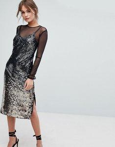 Read more about Coast gisella ombre sequin mesh dress - multi