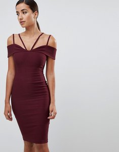 Read more about Vesper strappy detail midi dress in oxblood