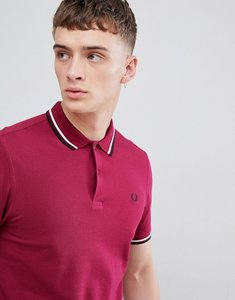 Read more about Fred perry twin tipped polo in raspberry - g09
