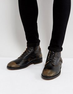 Read more about H by hudson mckendrick leather lace up boots - black
