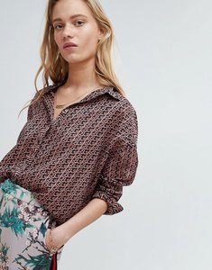 Read more about Maison scotch boxy shirt in allover print - combo b