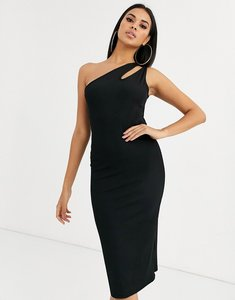 Read more about Ivyrevel cutout one shoulder dress in black