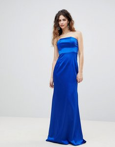 Read more about Bariano bandeau satin maxi dress - cobalt