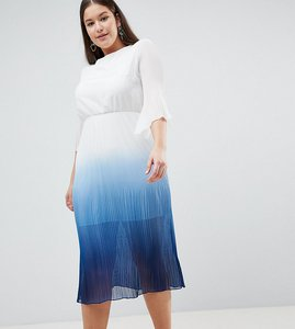 Read more about John zack plus pleated skater dress - white ombre