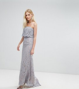 Read more about Jarlo all over lace bandeau maxi dress - grey