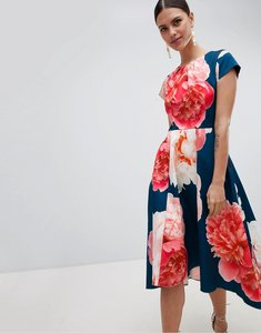 Read more about Closet london bold print midi dress - multi