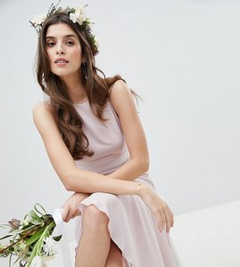 Read more about Tfnc maxi bridesmaid dress with high low hem