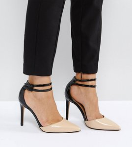 Read more about Asos primrose pointed heels - nude black