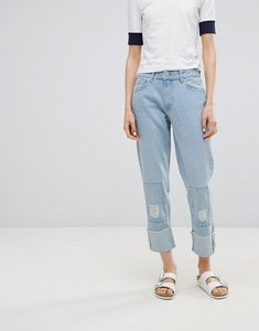 Read more about Waven akins true boyfriend patch jeans - allie blue patches