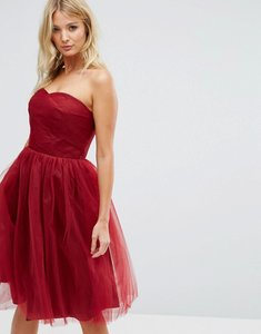 Read more about Hell bunny bandeau tulle dress - red