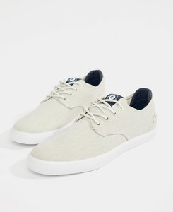 Read more about Lacoste esparre canvas plimsolls in white - white