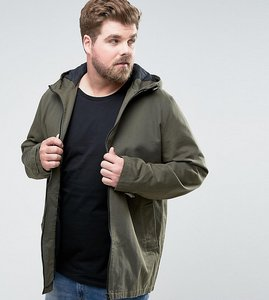 Read more about Asos design plus lightweight parka jacket in khaki - green