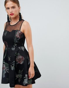 Read more about New look scuba a line dress - black pattern
