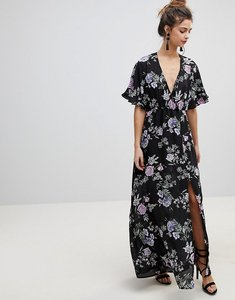 Read more about Oh my love kimono sleeve maxi dress - black