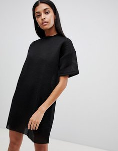 Read more about Uncivilised mesh tee dress - black