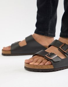 Read more about Birkenstock arizona smooth leather sandals - brown