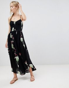 Read more about Free people beau printed midi dress - black combo