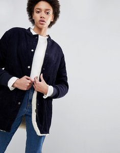 Read more about Parka london ezra long corduroy bomber jacket - navy