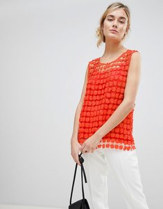 Read more about See u soon top in floral crochet - orange