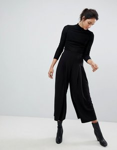 Read more about Weekday pleat front wide leg trouser - black