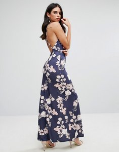 Read more about Oh my love maxi dress with open back in floral print - rose bouquet print