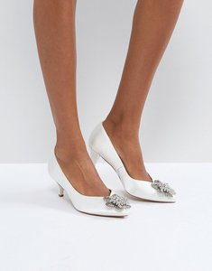Read more about Asos soya bridal embellished kitten heels - ivory