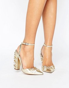 Read more about Asos pall mall bridal embellished heels - gold