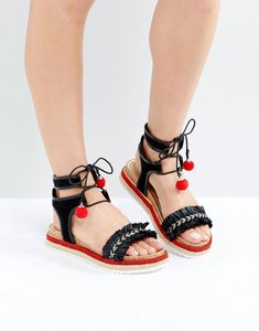 Read more about Miss kg pebble espadrille flatform sandals - multi other