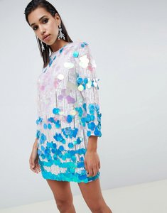 Read more about Asos edition disc sequin shift dress - multi