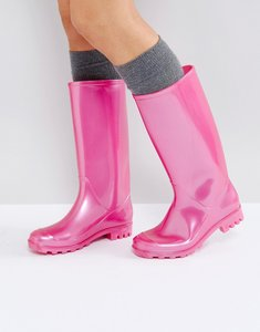 Read more about Asos gorgeous pearlised wellies - pink