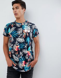 ba4ffad5f4d43 Read more about Hollister colour change all over floral print t-shirt slim  fit in