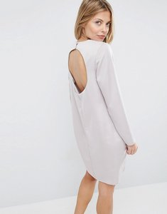 Read more about Asos mini dress with open back - silver
